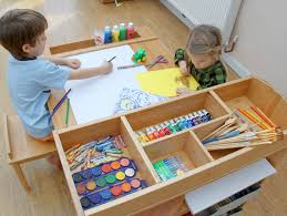 preschool art table. Children S Arts And Crafts Table Chairs Art Craft Helps Intended For Desk Plan 12 Preschool