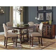 ashley glambrey 5 piece traditional dining set furniture round table side oak chairs signature design by ashley