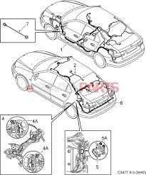 Esaabparts saab 9 3 9440 > electrical parts > wiring harness roof rear > partment roof and rear