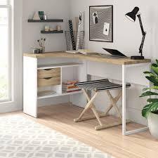 Zipcode Design Writing Desk Chang L Shape Desk In 2019 L Shaped Desk Desk Essentials