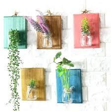 wall vase decor dairy bottle flower vases hanging art wood wall decor milk bottle bud vase
