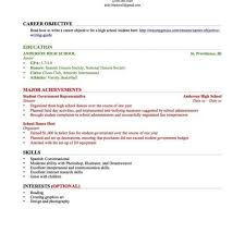 Resume High School Graduate No Experience Simple Sample Resume With