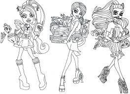 Print Download Monster High Coloring Pages Printable For Your Kids
