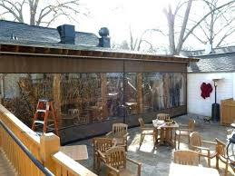 clear vinyl plastic porch patio enclosures for restaurants custom pavilion and