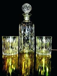 liquor glass set crystal whisky decanter set crystal whiskey decanter and glass set sharp vintage crystal liquor glass set
