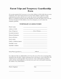 Temporary Guardianship Forms Florida Health Care Power Of attorney forms Beautiful Free Temporary 1