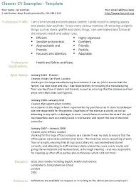 Cleaning Resume Cover Letter Resume Cover Letter Examples For