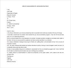 Letter Of Recommendation From Employer To College Recommendation Letter For Scholarship From Employer Popular Letter