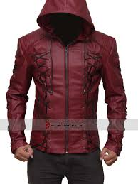 nal red hood leather jacket