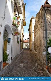 The Old Town Of Capriati A Volturno In The Province Of Caserta, Italy.  Stock Image - Image of italy, town: 166213165