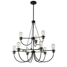 damien 9 light black chandelier