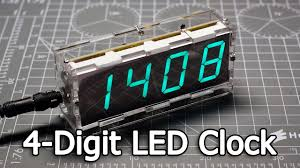 neje diy large screen 4 digit green led electronic clock kit dealextreme sku383449