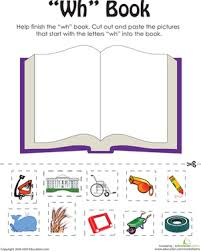 Check out our different sets of worksheets that help kids practice and learn phonics skills like beginning sounds, rhyming and more. Wh Words A Word Family Book Worksheet Education Com