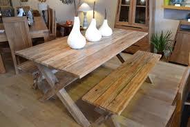 Reclaimed Teak Dining Table Reclaimed Teak Plank Dining Set Bentota Bench