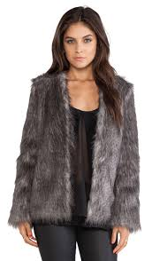flecked faux fur coat