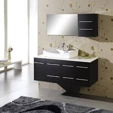 Contemporary Bath Vanity Cabinets Bathroom Modern Black Wooden Floating Bathroom Vanity With Single