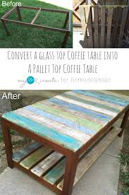 Stained Glass Coffee Table Remodelaholic Update A Glass Top Coffee Table With A Pallet