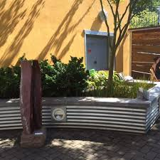 corrugated metal retaining wall with