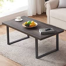 You can shop with us online or at our showrooms in florida, located in miami, broward, naples, ft myers, and west palm! Amazon Com Ibf Modern Coffee Table Wood And Metal Simple Industrial Rustic Center Table Minimalist Rectangle Wooden Farmhouse Cocktail Table For Living Room Grey Oak 47 Inch Kitchen Dining