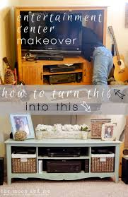 Entertainment Center Makeover: Old to New TV Console #diy ...