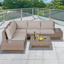 outsunny 4pc sectional rattan sofa set