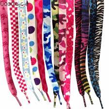 Shoelace Patterns Custom Lovely Hot Prints Boys Girls Flat Shoelace Shoelaces Shoe Lace Decor