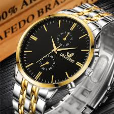 Men Watches Gold Dial Luxury Fashion Male Business Watch ...