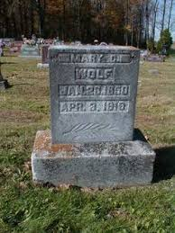 Mary Christiana Bigler Wolf (1850-1919) - Find A Grave Memorial