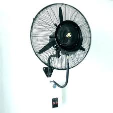outdoor oscillating wall fan mount fans mounted misting top john