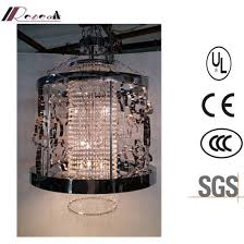 china classical black metal hollow hanging crystal chandelier