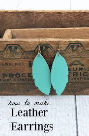 how to make leather feather earrings a quick and easy cricut diy fun turquoise