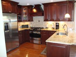 Yellow And Brown Kitchen Kitchen Cool Model Countertop And Cabinet Ideas Single Sink With