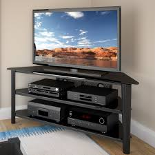 TV Stands  Awful Corner Tv Stand Inch Photo Concept Stunning For Living  Room Furniture With Unique Black Buffet And Players Carpet 40 Awful Corner Tv  Stand