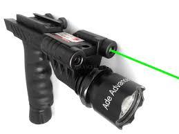 Ar 15 Laser Light Hg03 Rifle Vertical Foregrip Grip 500 Lumen Flashlight And Green Laser Combo Sight