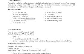 Sample Resume For An Internship Internship Resume Template No ...