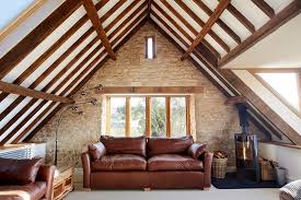 attic living room design youtube: view in gallery snug attic living room of a renovated old barn design hart design and construction