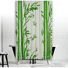 new bathroom shower curtain extra long with hooks 180 x 200 cm bamboo sadheox79