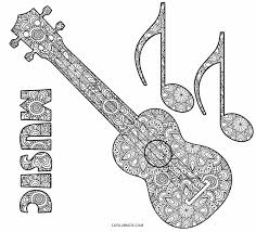 Guitar coloring page from music & musical instruments category. Free Printable Music Coloring Pages For Kids