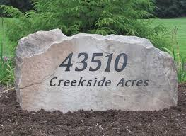 mn custom stone address signs