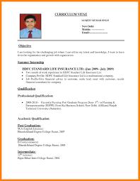 Gallery Of Resume Curriculum Vitae Example