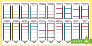 Second Level Writing Genre Target Bookmark Resource Pack
