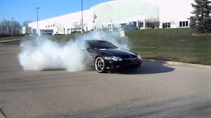 2004 Mercedes Benz SL600 V12 RennTech burnout - YouTube