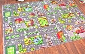 rug road play mat carpet for children minions kids furniture s train track railroad