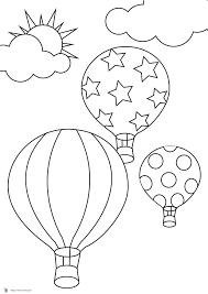 Coloriage Montgolfiere Les Beaux Dessins De Transport Imprimer