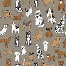 Dog Dog Wallpaper For Walls Toile ...