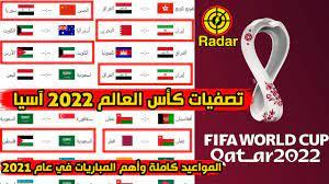 أهم مباريات تصفيات كأس العالم 2022 آسيا في عام 2021 المواعيد كاملة - YouTube