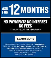 lowes appliance financing. Perfect Appliance Ask For 12 Months No Payments Interest Fees If Paid In Full  Within Lowes Appliance Financing D