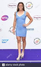 Maria Sakkari Teilnahme an der jährlichen WTA Tennis auf der Themse Partei  hielt an der Bernie Spanien Gardens, South Bank, London Stockfotografie -  Alamy