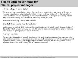 clinical project manager cover letter b0e
