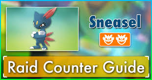 Sneasel Raid Counter Guide Pokemon Go Wiki Gamepress